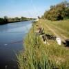 Pêche au bord du canal du Rhône à Sète